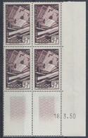 MAROC N° 290 - SOLIDARITE - Bloc De 4 COIN DATE - NEUF SANS CHARNIERE - 18/3/50 - 1950-1959
