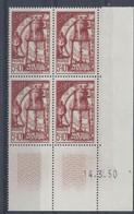 MAROC N° 291 - SOLIDARITE - Bloc De 4 COIN DATE - NEUF SANS CHARNIERE - 14/3/50 - 1950-1959