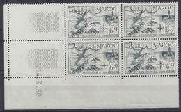 MAROC - PA N° 76 - SOLIDARITE - Bloc De 4 COIN DATE NEUF SANS CHARNIERE 14/3/50 - 1950-1959
