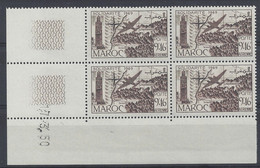 MAROC - PA N° 77 - SOLIDARITE - Bloc De 4 COIN DATE NEUF SANS CHARNIERE 17/3/50 - 1950-1959