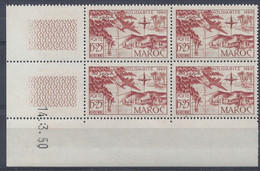 MAROC - PA N° 78 - SOLIDARITE - Bloc De 4 COIN DATE NEUF SANS CHARNIERE 14/3/50 - 1950-1959