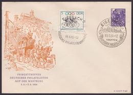 """Mi-Nr. PU 11 D1/03b, """"Pfingsttreffen Wartburg"""", 1954, Pass. Sst - Privatumschläge - Gebraucht"""