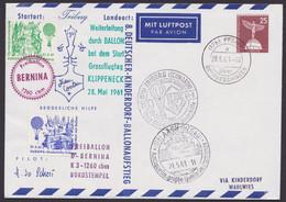 "Mi-Nr. PU 19 B2/03, ""Kinderdorf- Ballonpost"", 1961, Alle Stempel - Sobres Privados - Usados"