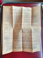 Rare Fac Similé Bill Of Rights Etats Unis Sur Parchemin - Gesetze & Erlasse