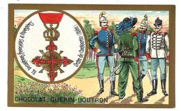 CHROMO ANCIEN  - Médaille Ordre De CONSTANTIN Italie - Pub Chocolat Guérin-Boutron - Guérin-Boutron