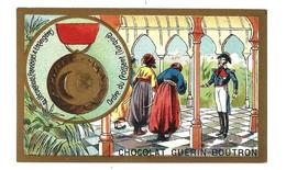 CHROMO ANCIEN  - Médaille Ordre Du CROISSANT TURQUIE - Pub Chocolat Guérin-Boutron - Guérin-Boutron