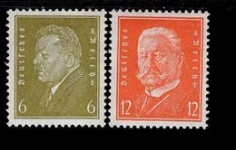 Deutsches Reich 465 - 466 Reichspräsidenten MNH Postfrisch ** Neuf - Nuevos