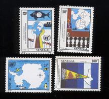 1992. Patrimoine Maritime Yv.997/1000 **. Cote 6,30 €. Pêche. Fishing - Senegal (1960-...)