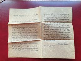 Rare Fac Similé Lettre D'Abraham Lincoln Guerre De Sécession Etats Unis Sur Parchemin - Gesetze & Erlasse