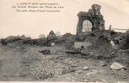 LENS ( 62 ) - Les Grands Bureaux Des Mines De Lens Après La Guerre - Lens