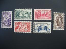Côte D'Ivoire  N° 133 à 138  Exposition Internationale 1937    Série Complète    Neuf *   Voir Rousseurs - Ongebruikt