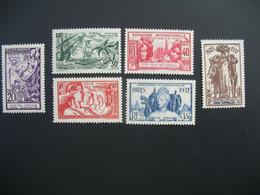 Côte Des Somalis N° 141 à 146   Exposition Internationale 1937    Série Complète    Neuf * - Ongebruikt