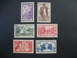 Dahomey  N° 103 à 108   Exposition Internationale 1937    Série Complète    Neuf * - Ongebruikt