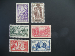 Guadeloupe  N° 133 à 138   Exposition Internationale 1937    Série Complète    Neuf * - Ongebruikt