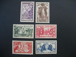 Guinée  N° 119 à 124  Exposition Internationale 1937    Série Complète    Neuf *  Voir Rousseurs - Ongebruikt