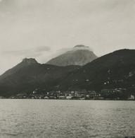 Italie Lac De Garde Torbole Panorama Ancienne Photo Stereo 1900 - Stereo-Photographie