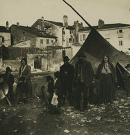 Tchequie Prague Camp Gypsy Tzigane Ancienne Photo Stereo Photobrom 1900 - Stereo-Photographie