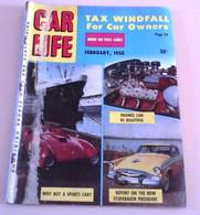 Rare Revue Automobile Américaine Car Life Février 1955 Usines Fiat Mirafiori Turin Nouveautés 55 Ford Cadillac Buick... - Other