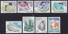 French Antarctic Territory, Minerals MNH, 8 Stamps - Minerali