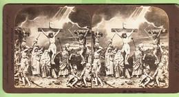 Photo Stéréoscopique 1900 - JESUS CHRIST : La CRUCIFIXION N° 9 - Stereoscopio