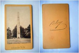 PHOTO CDV COLONNE DES TRENTE GUILLAC MORBIHAN   Cabinet CARLIERY CARLIER   A BRETAGNE - Ancianas (antes De 1900)
