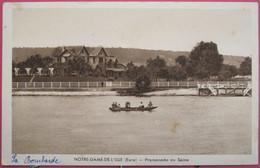 Visuel Très Peu Courant - 27 - Notre Dame De L'Isle - Promenade En Seine - R/verso - Other Municipalities
