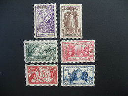 Guyane N° 143 à 148  Exposition Internationale 1937    Série Complète    Neuf * - Ongebruikt