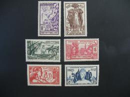 Inde N° 109 à 114  Exposition Internationale 1937    Série Complète    Neuf * - Ongebruikt