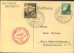 "1938, LZ 127 ""Graf Zeppelin"" - SUDETENLANDFAHRT Ab Frankfurt - Zeppelins"