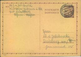 """1941, Ganzsachenkarte Aus KLV-Lager """"FRANKSTADT"""" - Cartas"""