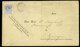 BRIEFOMSLAG Uit 1876 * Van KRANKZINNIGENGESTICH 's-HERTOGENBOSCH  PUNTSTEMPEL 57 Naar PROCUREUR Te NIJMEGEN (11.854f) - Lettres & Documents