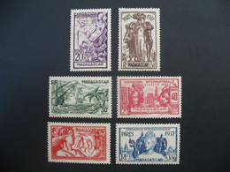 Madagascar  N° 193 à 198   Exposition Internationale 1937    Série Complète    Neuf *  Voir Rousseurs - Ongebruikt