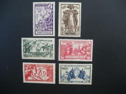 Martinique  N° 161 à 166   Exposition Internationale 1937    Série Complète    Neuf *  Voir Rousseurs - Ongebruikt