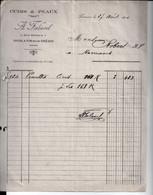 Cuirs & Peaux. A. Falavel à Romans Sur Isère. à M. Robert Tanneur à Romans. 1926. - 1900 – 1949