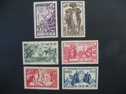 Niger N° 57 à 62   Exposition Internationale 1937    Série Complète    Neuf * Voir Rousseurs - Ongebruikt