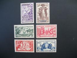 Nouvelle-Calédonie  N° 166 à 171  Exposition Internationale 1937    Série Complète    Neuf * - Ongebruikt
