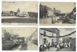Belgique - ECAUSSINNES - 4CP - La Sennette, L'Estanche, La Danse Matrimoniale, L'Eglise, La Cure - Ecaussinnes