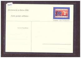 FORMAT 10x15cm - INTERNEMENT EN SUISSE 1940 - TIMBRE ENTIER DES INTERNES - TB - Altri