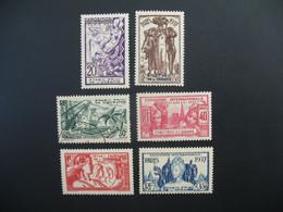 Océanie  N° 121 à 126  Exposition Internationale 1937    Série Complète    Neuf * Dont 1 Oblitéré - Ongebruikt