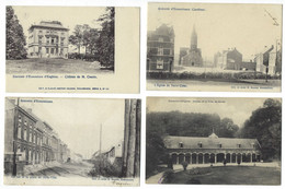Belgique - ECAUSSINNES - 4CP - Château Cousin, Rue Belle-Tête, Ecurie Du Château De La Folie, Eglise Du Sacré-Coeur - Ecaussinnes