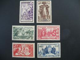Saint-Pierre-et-Miquelon  N° 160 à 165   Exposition Internationale 1937    Série Complète    Neuf * - Ongebruikt