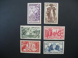 Sénégal  N° 138 à 143   Exposition Internationale 1937    Série Complète    Neuf * - Ongebruikt