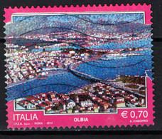 ITALIA - 2014 - IL TURISMO IN ITALIA - OLBIA - USATO - 2011-...: Afgestempeld