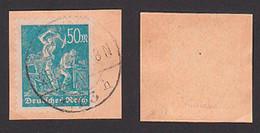 Germany 245, 50 M Bergarbeiter Gest. Briefstück Sign. Friedemann Germany, St. Berlin N113 22.7.23 - Usati