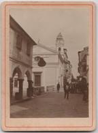 Photo Albuminée Sur Carton 6,5 X 9,5 :  Vue De  Corfou  Thunder  Just Cut The Steeple  (Grèce)   1898 Très Rare - Antiche (ante 1900)