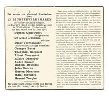 Doodsprentje Oorlogsslachtoffers Lichtervelde + Wolfenbüttel 15 Juni 1944 - Andachtsbilder