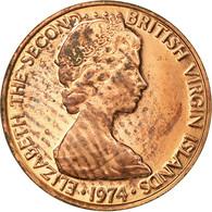 Monnaie, BRITISH VIRGIN ISLANDS, Elizabeth II, Cent, 1974, Franklin Mint - British Virgin Islands