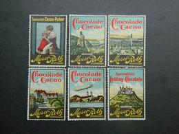 Reklamemarken Schocolade Vignettes Chocolat Cinderellas Chocolate Moser-Roth Stuttgart - Erinofilia