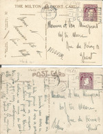 001768 - IRLANDE - 2 PCs TRAVELLED TO BELGIUM FRANKED BY Mi 42A CANCELLED 1933 - INTERESTING KILLERS - Non Classificati