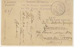 POSTA MILITARE - Sezione Sanità Del VII Corpo D'Armata - Viaggiata Il 3/2/1916 - Marcophilie